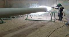 The technique of using zinc wire on electric arc spraying machine