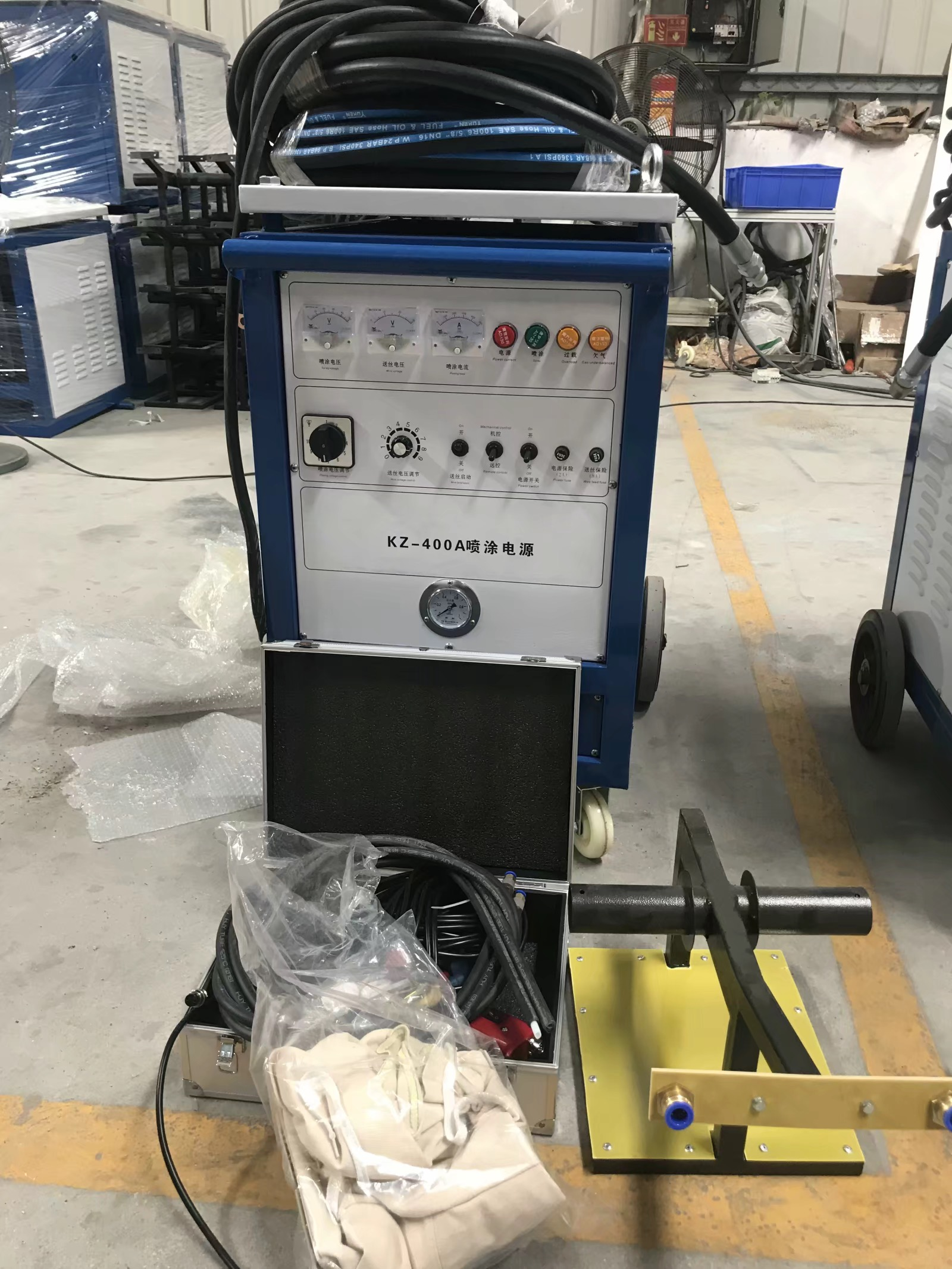 High speed arc spraying machine