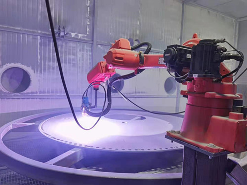 Automatic spraying robot